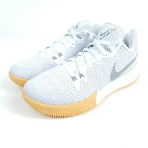 NIKE Zoom Live II EP Mens Size 8 8.5 9.5 Basketball Shoes White Gray ... f2f513f73