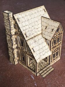 Details about 28mm Fantasy Gaming Scenery Buildings T9
