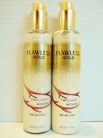 Bath Body Works Twilight Woods Flawless Gold 24k Silk Lotion, X 2