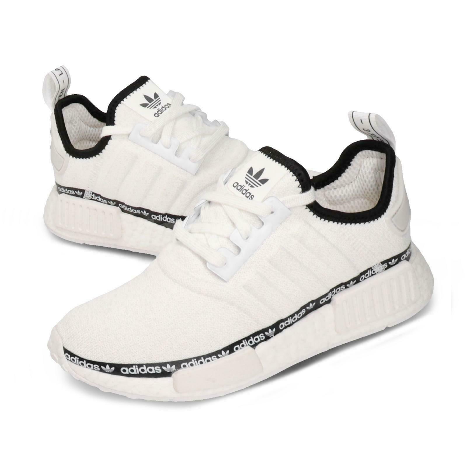 Size 10 - adidas NMD R1 White Tape Logo