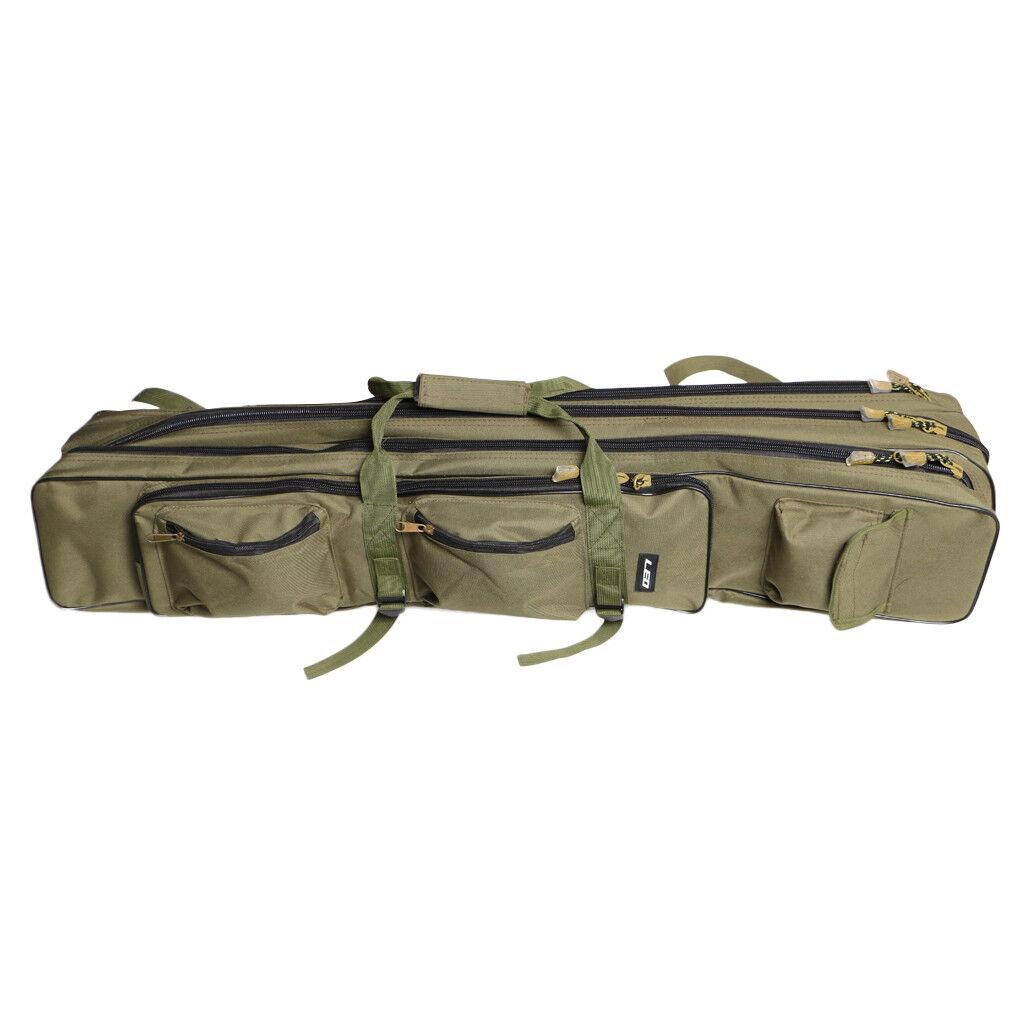 Paquete De Aparejos de Pesca Caña Reel organizador de 3 capas de viaje bolsa de equipaje 100 Cm
