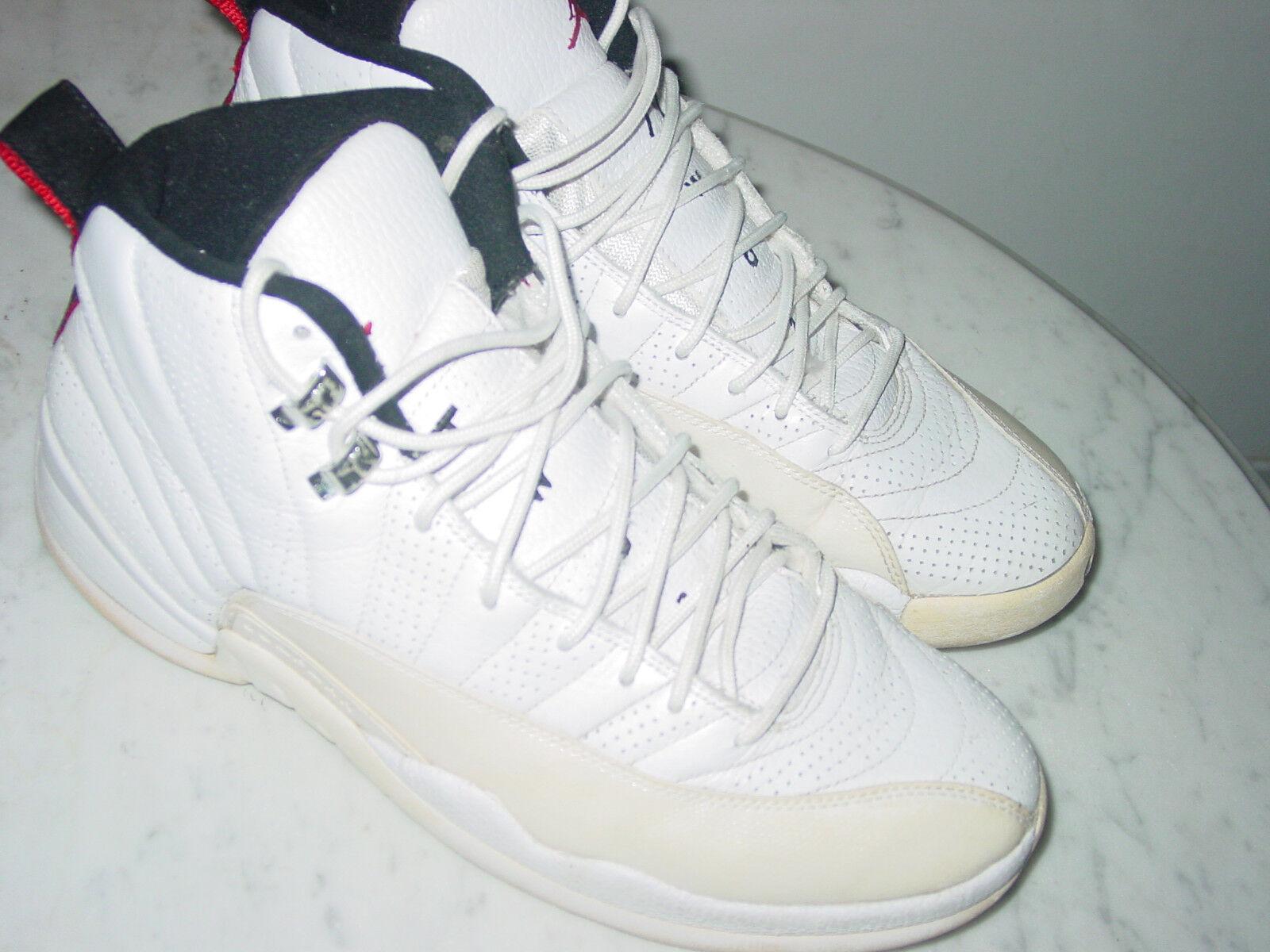 2009 Nike Air Jordan Retro 12 Rising Sun White/Black Basketball Shoe Size 10.5