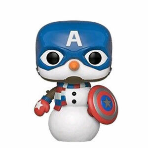 Captain-America-as-Snowman-Christmas-Holiday-Pop-Vinyl-Figure-NEW-Funko