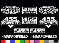 10 Decal Set 455 Ci V8 Powered Engine Stickers Emblems Olds Pmd Vinyl Decals