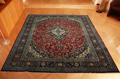 Echter Perser Teppich Kashmar Korkwolle 380x303 Firm In Structure Rugs & Carpets