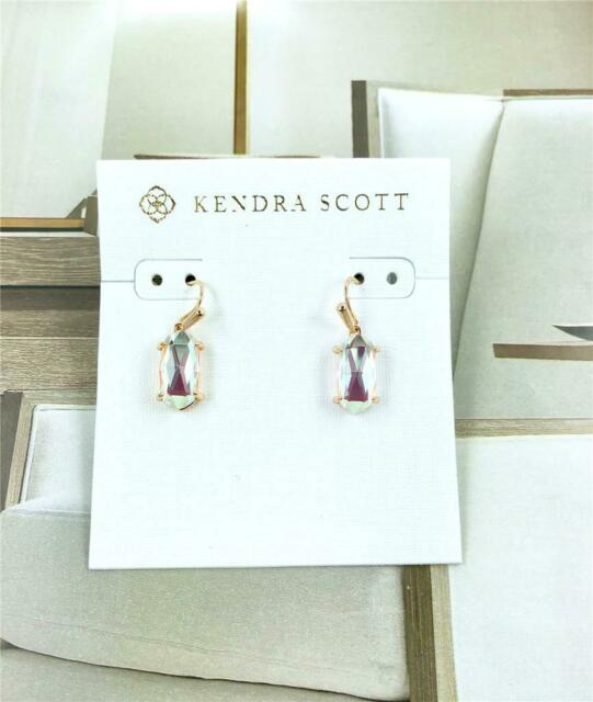 bf8a4b5818f0e New Kendra Scott Lemmi Dichroic Glass Rose Gold Earrings