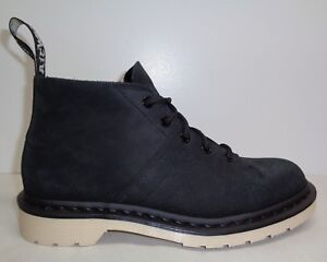 Cuir Martens Taille Église En Noir Hommes 11 Lacets À Dr Chaussures Cheville Bottes Nouveau 5XZqwgdF1d