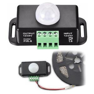 infrarot bewegungsmelder 12v 24v 6a pir sensor schalter. Black Bedroom Furniture Sets. Home Design Ideas