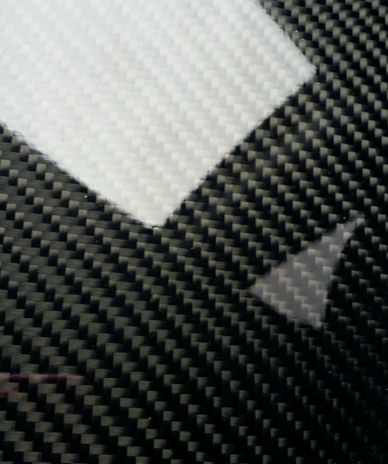 Carbon Fiber Fiberglass Panel Sheet 6 ×78 ×1/32  Glossy One Side