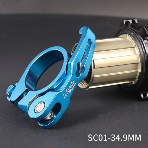 31.8//34.9mm MTB Road Bike Bicycle Seat Post Clamp Seat Pipe Clamp Quick Release
