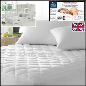 COT-TRAVEL-COT-034-QUILTED-034-Fitted-Mattress-TOPPER-Box-Skirt-VARIOUS-LENGTHS