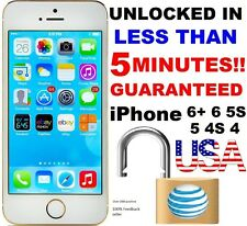 Factory Unlock Service/Code Express Att AT&T iPhone 4S 5 5C 5S 6 6S+ CLEAN IMEI