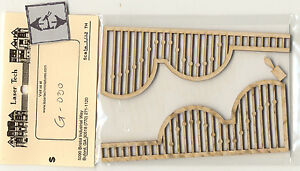 Victorian Painted Lady Porch Grilles Lt030 Wood 1 12 Scale
