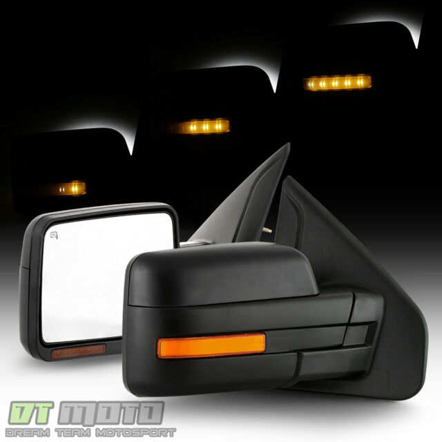 [LED Sequential Signal] Left+Right 2007-2014 Ford F150 Power Heated Side  Mirrors