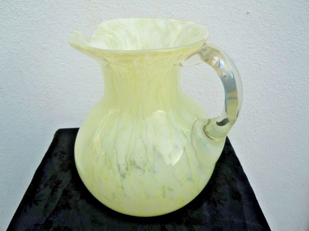 Pichet carafe verre soufflé d'époque Art Nouveau Legras