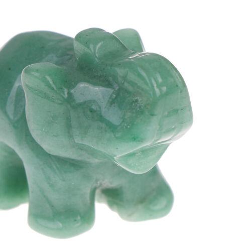 Elephant figurine gemstone natural hand carved green aventurine jade stoneTPO