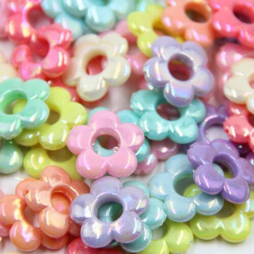100pcs Plastique Coloré Loose Beads For Kids Set Fun jewellry Making À faire soi-même Craft