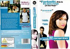 A WALK TO REMEMBER VHS PAL MANDY MOORE,SHANE WEST,PETER COYOTE,DARYL HANNAH RARE