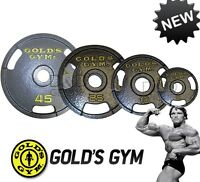 Gold's Gym 2 Olympic Grip Plates Weight Cast Iron Home Workout Exercise Single
