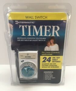 NEW Intermatic EJ341C /& EJ343c Programmable 24 Hour Wall Switch Security Timer