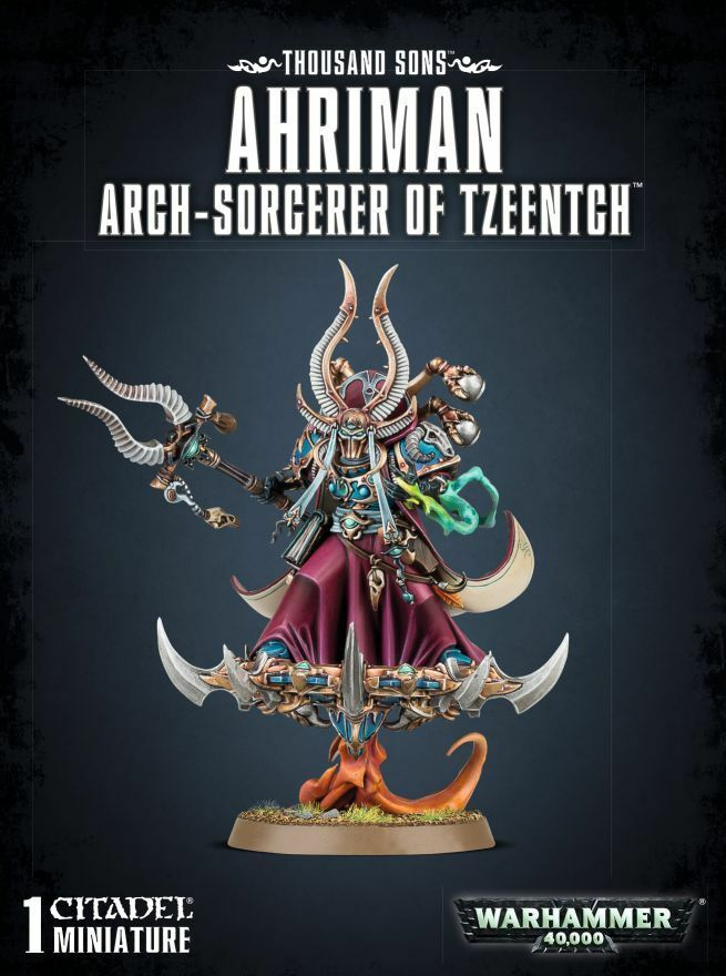 Thousand Sons Ahriman Ahriman Ahriman Arch Sorcerer of Tzenntch Games Workshop 40.000 40k Chaos 3a4126