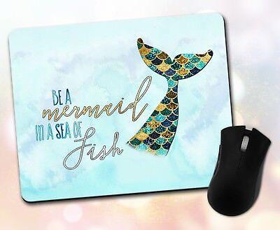 Decor ~ Vivid Coaster Custom ~ Inspirational Quote Mermaid Gift Watercolor