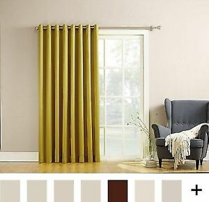 Sun Zero Becca Energy Efficient Patio Door Curtain Panel 100 X 84