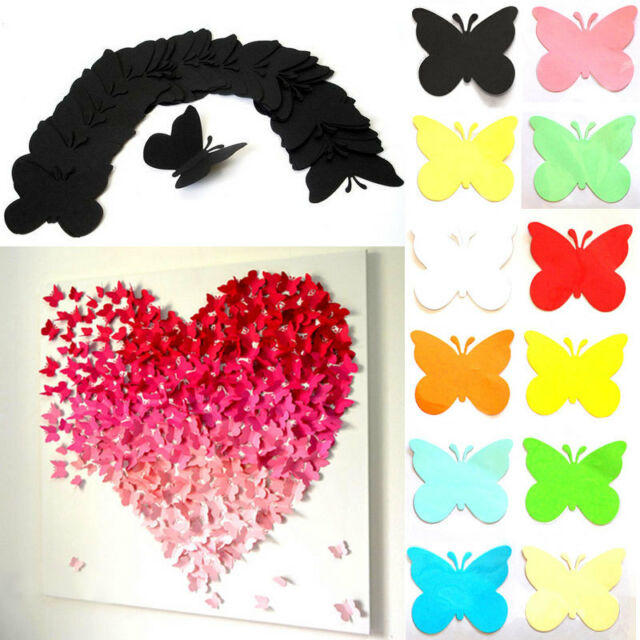 3D Stereoscopic Butterfly Wall Stickers DIY Art Design Decal Home Decor 20pcs