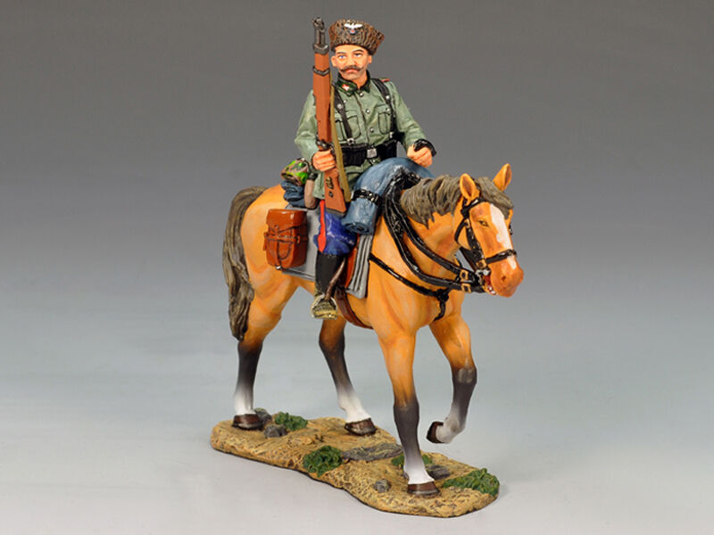 King & Country WSS145 - Mounted Cossack holding holding Rifle