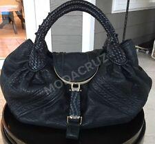 100% Authentic FENDI Spy Bag Black Leather Good Condition BEST PRICE!