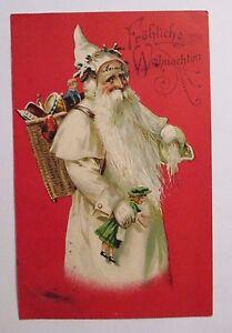 034-Navidad-Santa-Claus-Korb-juguete-034-1906-POSTAL-RELIEVE-19506