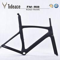 52cm Road Frameset Full Carbon Matt Road Bike Bicycle Frame Fork Seatpost Clamp