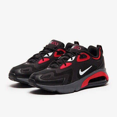 Nike Air Max 200 CI3865-002 Black/Red/White Mens Sportswear Running  Sneakers NEW   eBay