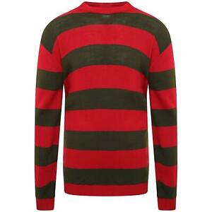 Kids-Children-Stripe-Freddy-Kruger-Knit-Jumper-Red-Green-Nightmare-Sweater-Top