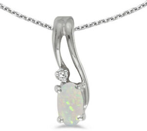 14k-White-Gold-Oval-Opal-And-Diamond-Wave-Pendant-Chain-NOT-included