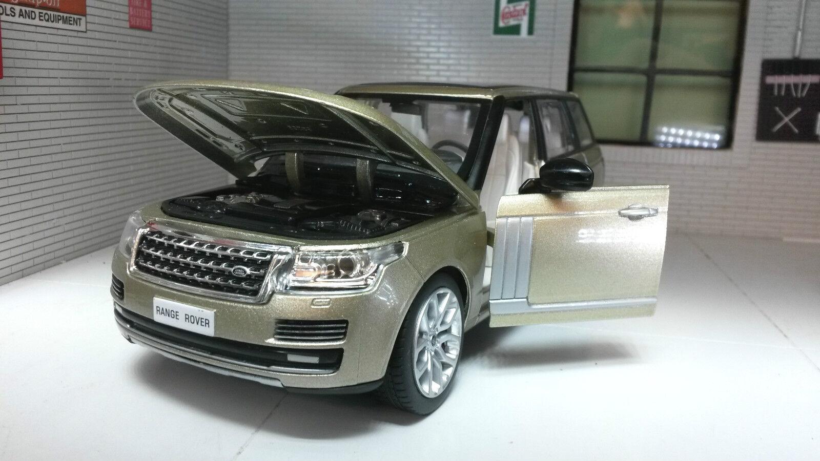 1 24 26 Range Rover L405 Td6 4.4 V8 HSE Champagner Gold MSZ Druckguss Modell