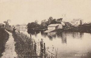 r england dorset old antique postcard english the towpath wareham
