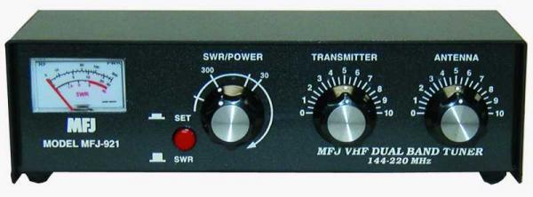 MFJ-921 Manual tuner + SWR: 2m/1.25m, 30/300W. Available Now for 113.89