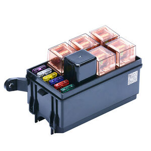 way auto fuse box assembly a pin a relay and fuses image is loading 6 way auto fuse box assembly 40a