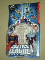 Jla Justice League Unlimited 3-Pack Clear Martian Manhunter, Brainiac and Superman Toys