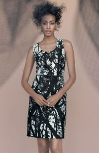 NEW-TAYLOR-DRESSES-Abstract-Tree-Print-Stretch-Cotton-Sheath-DRESS-SIZE-6