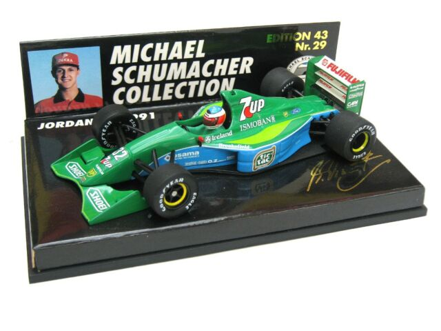 F1 JORDAN FORD 191 MICHAEL SCHUMACHER SPA BELGIEN 1991 NO 29 MSC PMA 1/43 OVP