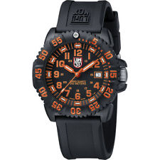 Luminox Authentic 3059 EVO Navy Seal Dive Colormark Blk/Org  Dial Night Vision!