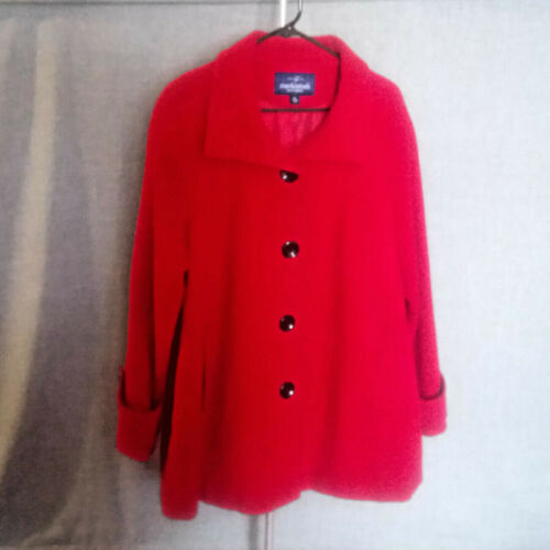 Vintage Womens Mackintosh of New England Red Wool