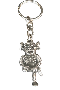 KR1635 Hel Norse Goddess Key Ring Hand Crafted from Lead Free Pewter in the UK