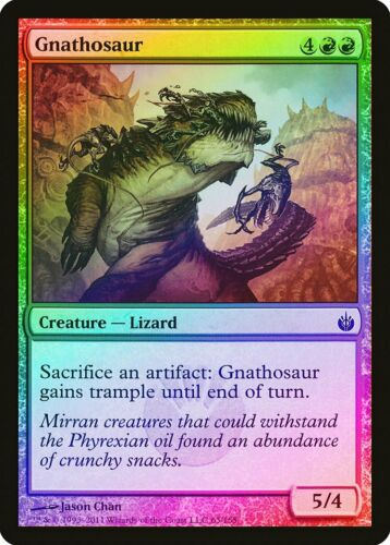 Gnathosaur FOIL Mirrodin Besieged NM Red Common MAGIC GATHERING CARD ABUGames