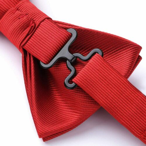 Adjustable Classic Woven Bowtie for Details about  /HISDERN Men/'s Pre-tied Solid Color Bow Ties