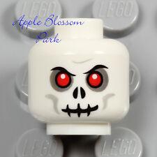 NEW Lego Skeleton Skull MINIFIG HEAD White w/Evil Red Eyes - Halloween Monster