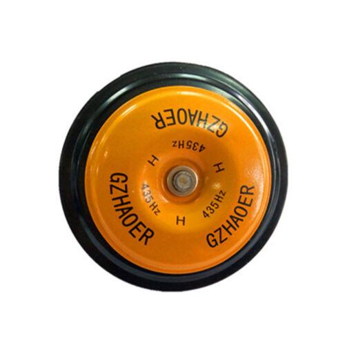 1pc Orange Car Motorcycle Air Horn Speaker 118DB Super Loud 12-24v Metal Trumpet