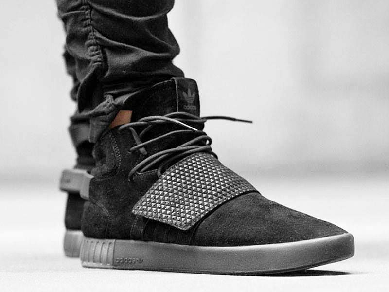 NEW Adidas Originals Tubular Invader Strap Men's shoes Black BY3632 Size 12 NEW
